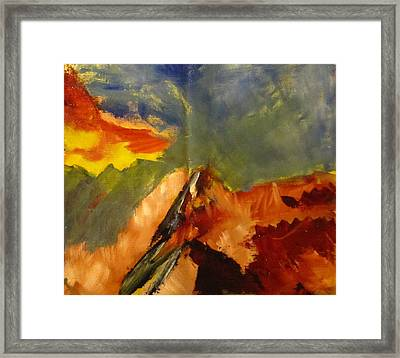 Framed Print featuring the painting Across The Divide by Patricia Cleasby