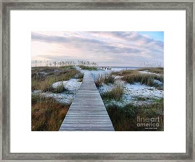 Across The Dunes Framed Print by Julie Dant
