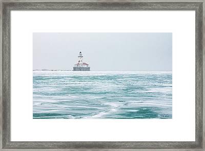 Across The Frozen Lake Framed Print