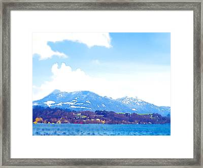 Across The Lake  Framed Print by Chuck Shafer