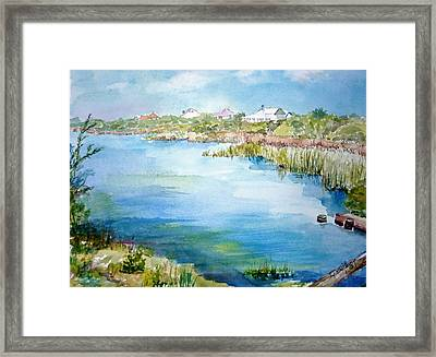 Across The Lake Framed Print by Dorothy Herron