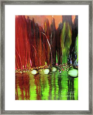 Across The Lake Framed Print by Susan Parsley