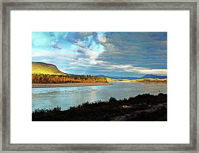 Across The Liard Framed Print by Marty Koch
