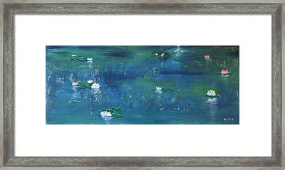 Across The Lily Pond Framed Print