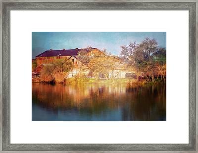 Across The Marina Framed Print