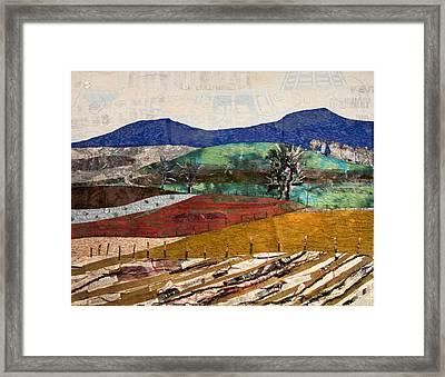 Across The Meadow Framed Print