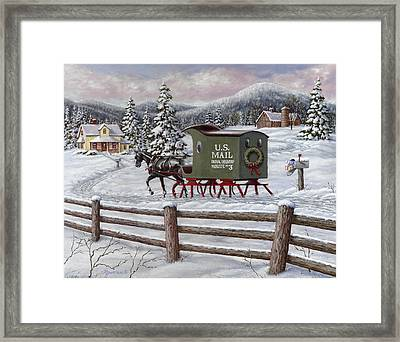 Across The Miles Framed Print