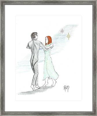 Across The Night...sketch Framed Print by Robert Meszaros