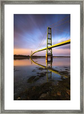 Framed Print featuring the photograph Across The Reach by Patrick Downey