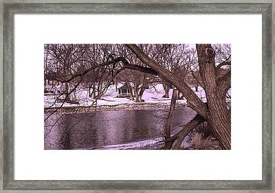 Across The River Framed Print by Anne Witmer