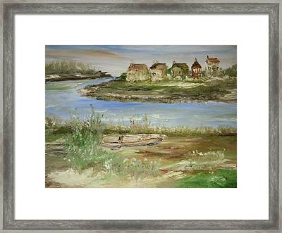 Across The River Framed Print by Edward Wolverton