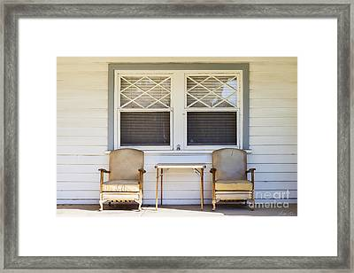 Across The Road Framed Print by Linda Lees