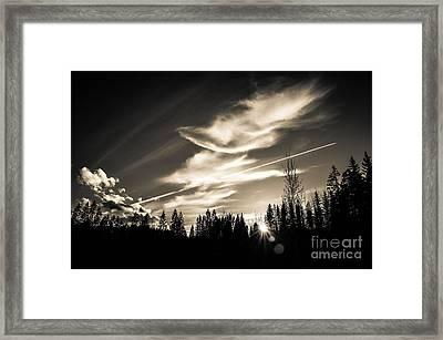 Across The Sky Framed Print