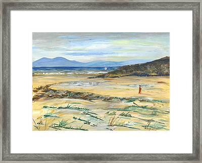 The Swimmer - Painting Framed Print by Veronica Rickard