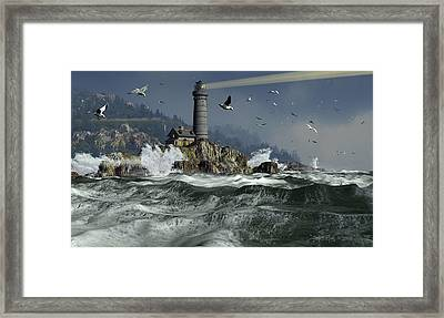 Across The Surly Brine Framed Print by Dieter Carlton