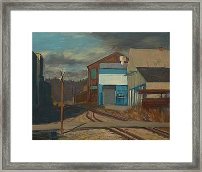 Across The Tracks Framed Print by Martha Ressler