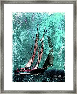 Across The Turquoise Sea Framed Print by Callan Percy