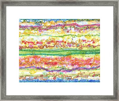 Across The Universe Framed Print by Regina Valluzzi