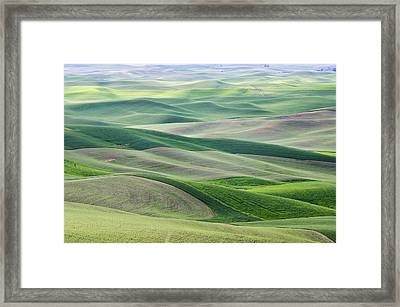 Framed Print featuring the photograph Across The Valley by Wanda Krack