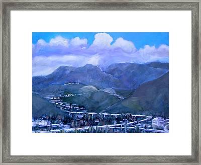Across The Verdugo Hills Framed Print by Richard  Willson