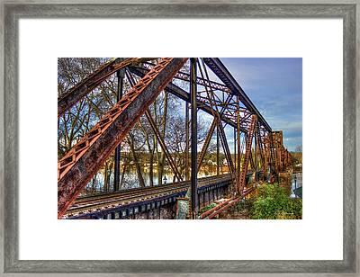 Across The Water 6th Street Rr Bridge Augusta Georgia Art Framed Print