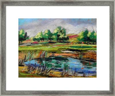 Framed Print featuring the painting Across The Water Hazard by John Williams