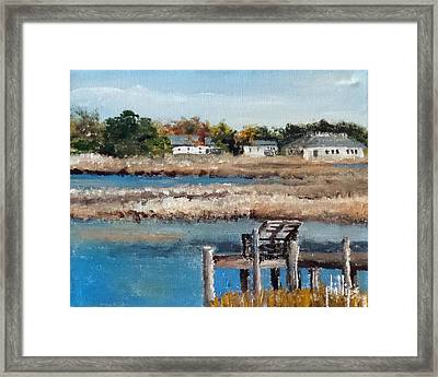 Across The White Oak Framed Print