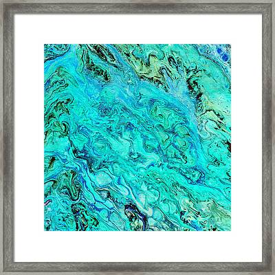 Acrylic Blues Framed Print