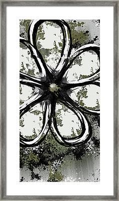 Acrylic Flower 6 Framed Print by Melissa Smith