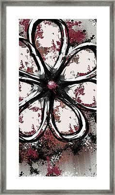 Acrylic Flower 7 Framed Print by Melissa Smith