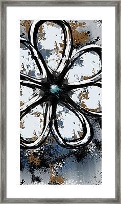 Acrylic Flower 8 Framed Print by Melissa Smith