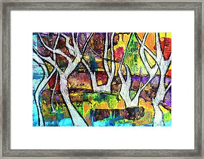Framed Print featuring the painting Acrylic Forest  by Ariadna De Raadt