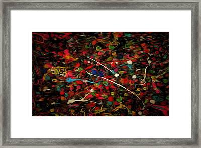 Acrylic Paint Framed Print by Anton Kalinichev