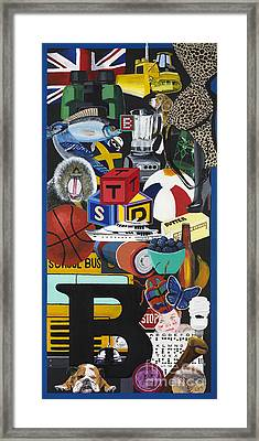 Acrylic Painting Letter B Framed Print by Scott Duffy