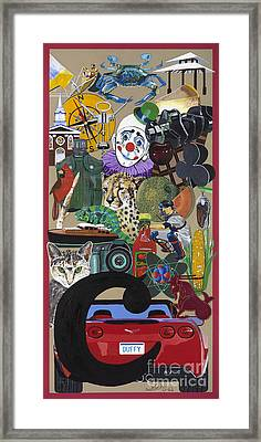 Acrylic Painting Letter C Framed Print by Scott Duffy