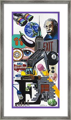Acrylic Painting Letter E Framed Print by Scott Duffy