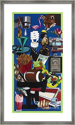 Acrylic Painting Letter F Framed Print by Scott Duffy