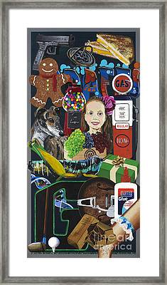 Acrylic Painting Letter G Framed Print by Scott Duffy