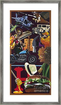 Acrylic Painting Letter H Framed Print by Scott Duffy