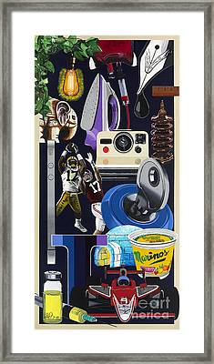 Acrylic Painting Letter I Framed Print by Scott Duffy