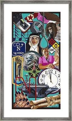 Acrylic Painting Letter N Framed Print by Scott Duffy