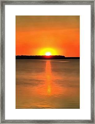 Acrylic Sunset Framed Print by Dan Sproul