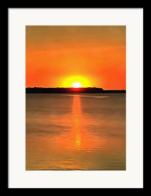 Sunflare Paintings Framed Prints