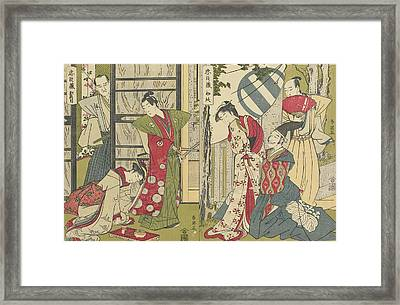 Act I And Act II Framed Print by Katsukawa Shunei