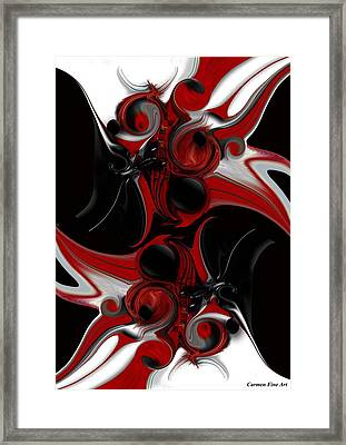 Act With Intuitive Creation Framed Print