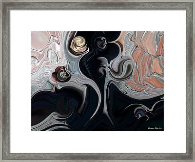 Framed Print featuring the digital art Act With Mystic Abstraction by Carmen Fine Art