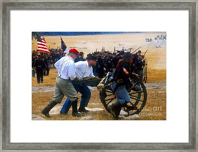 Action At The Front Framed Print by David Lee Thompson