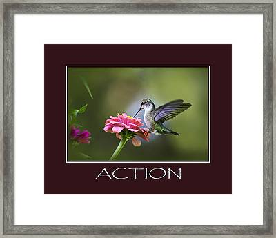Action Inspirational Motivational Poster Art Framed Print by Christina Rollo