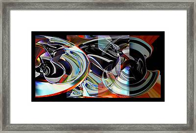 Framed Print featuring the digital art Action Works - D E M by rd Erickson