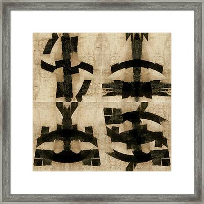 Active Verbs Photomontage Smaller 04 Framed Print
